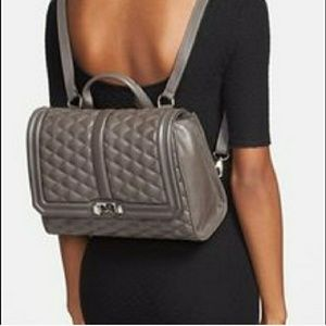 Rebecca Minkoff Backpack Quilted Love Convertible